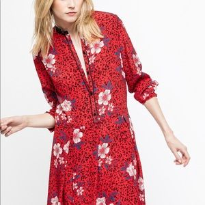 Zadig & Voltaire Red Ruti Pensee Floral Dress